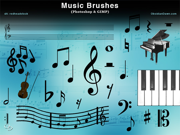 207  music photoshop brushes