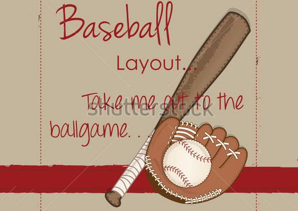 sample card template for baseball