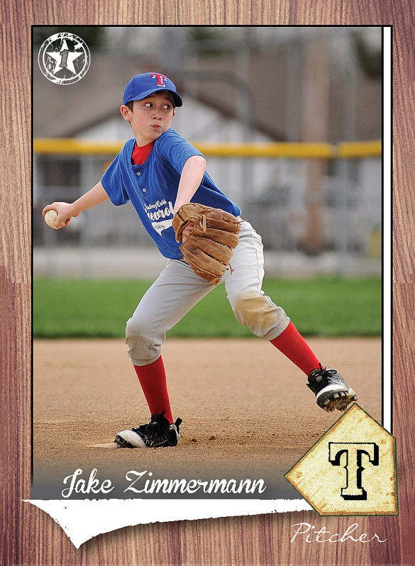Baseball card template 18 free printable sample for Baseball card size template