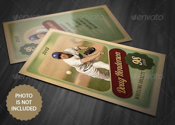 photoshop baseball card template