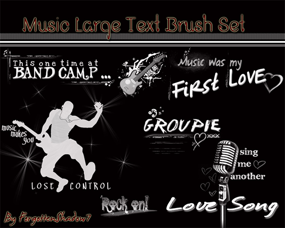 music photoshop brushes free download