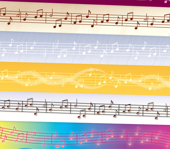 6 premium music photoshop brushes download
