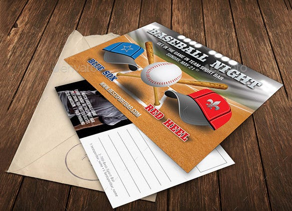 photoshop psd card template for baseball