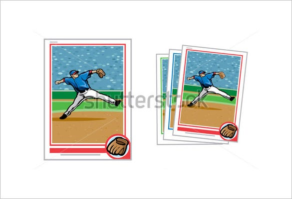 sample of baseball card template download