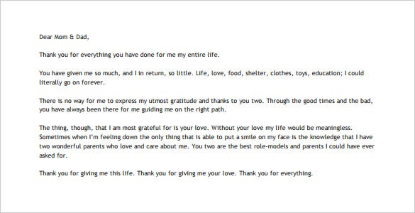 Thank you letter to your parents 10 free word excel pdf parents are the most special people and they deserve a thank you for a job well done so far download this template and write an encouraging thank you spiritdancerdesigns Gallery