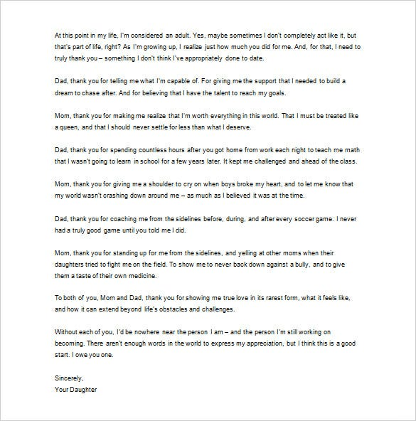 Thank you letter to your parents 10 free word excel pdf format say thank you to your parents today do not wait until it is too late you can download this template for free and make writing the letter an easy task for spiritdancerdesigns Gallery