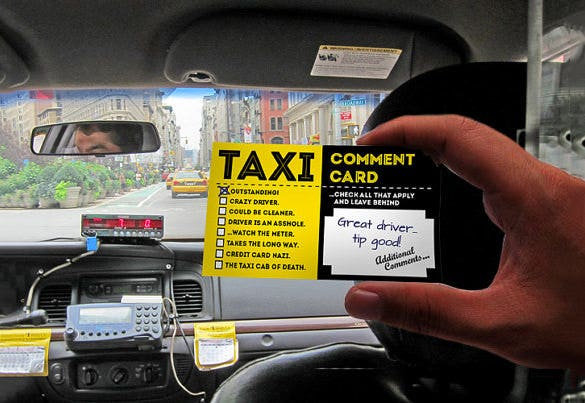 comment card fr taxi download