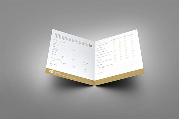 guest comment card template of hotel