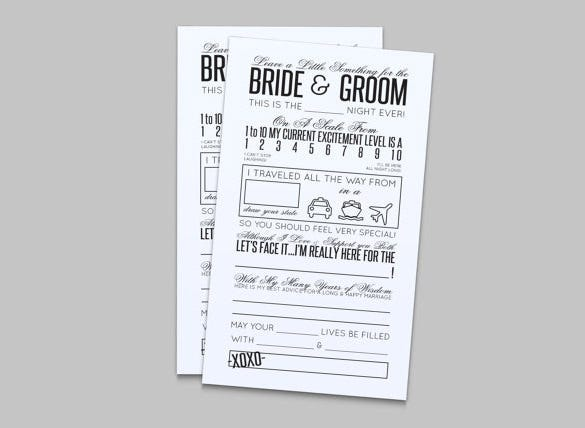 comment card template for wedding