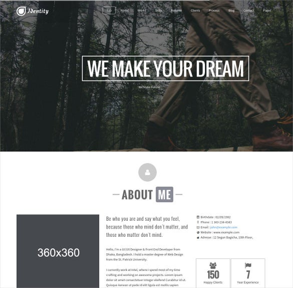 multipurpose modern one page portfolio joomla blog template