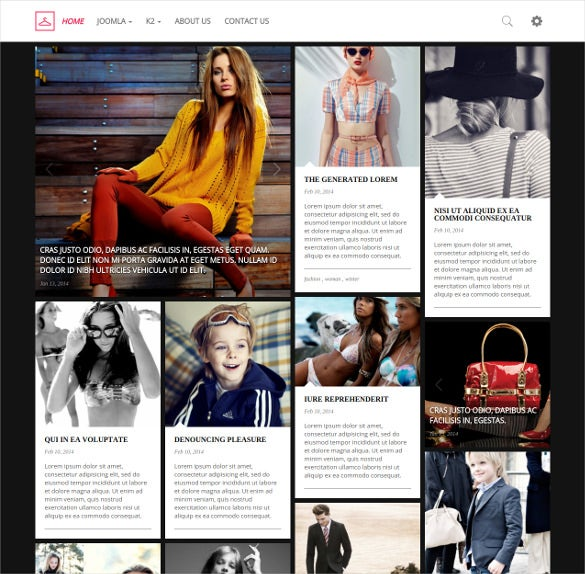 simple retina ready fashion blog portfolio joomla template