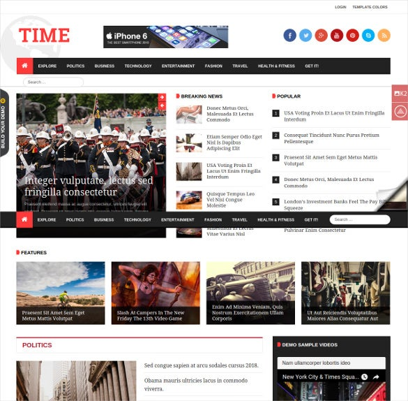 awesome user experience design news blog template for joomla