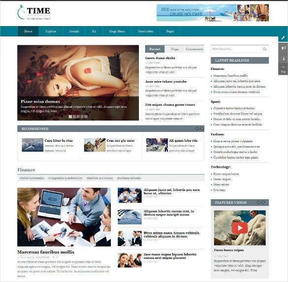creative responsive news portal joomla blog template