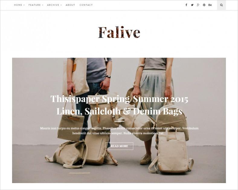 falive beautiful creative fashion blog theme 788x630