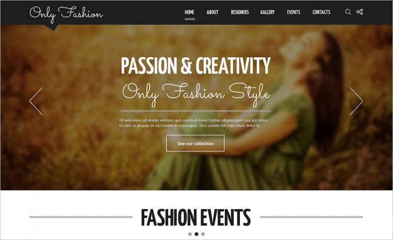 fashion blog responsive joomla template 788x483