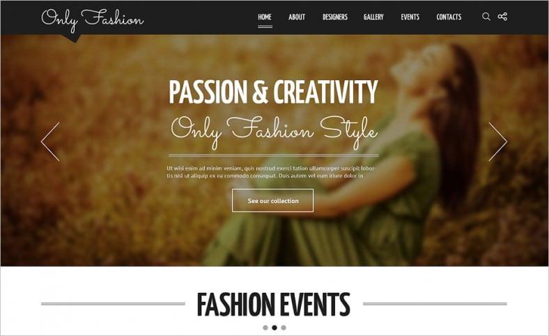 fashion blog responsive joomla template 788x483