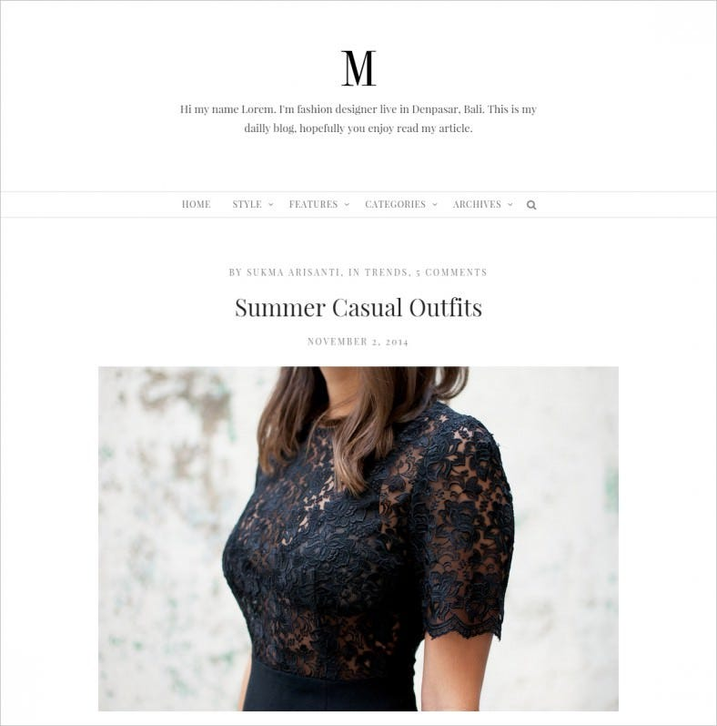 minimy responsive clean personal fashion blog 788x797