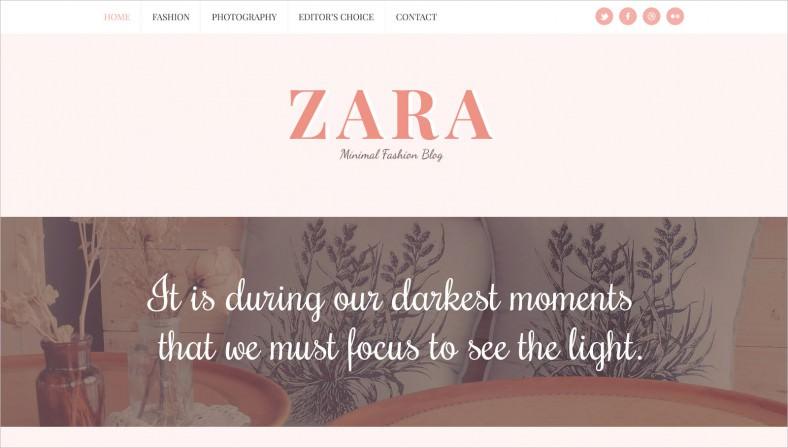 zara minimal fashion blog template 788x448