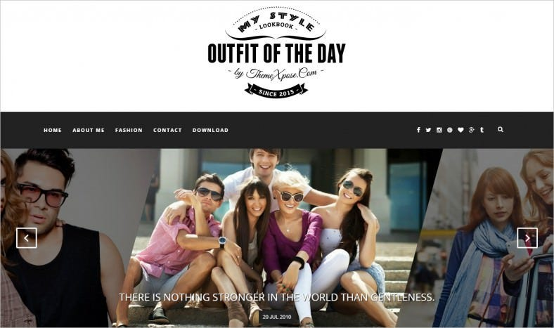 outfit light blogger template 788x467