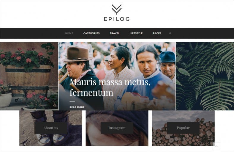 epilog a html blogging template 788x511