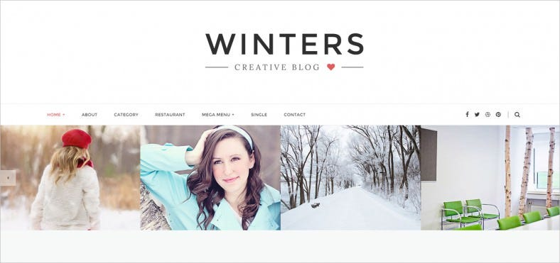 winters personal html blog template 788x371