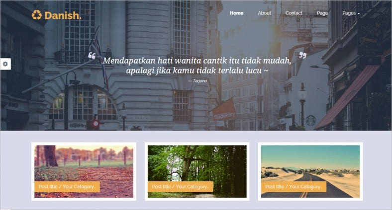 danish portfolio blog template 788x423