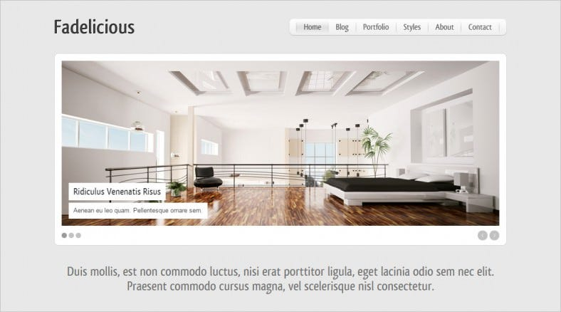 fadelicious responsive html blog portfolio 788x438
