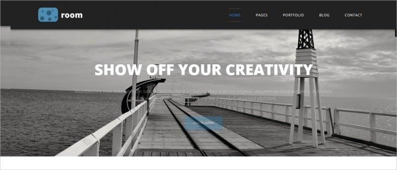 room – responsive portfolio blog html template 788x339