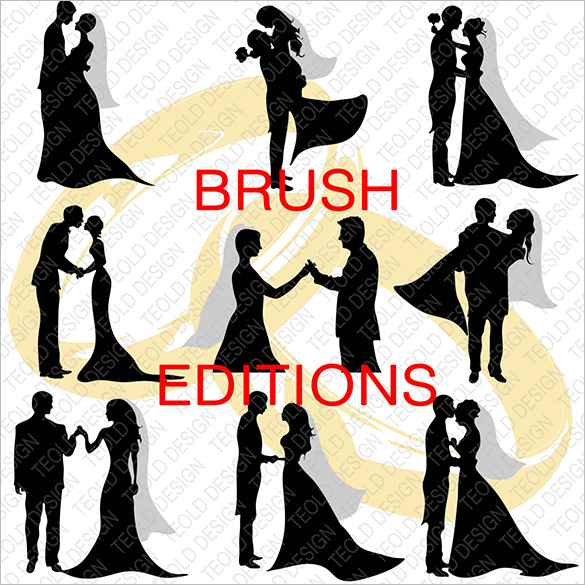 10 premium wedding photoshop brushes for you
