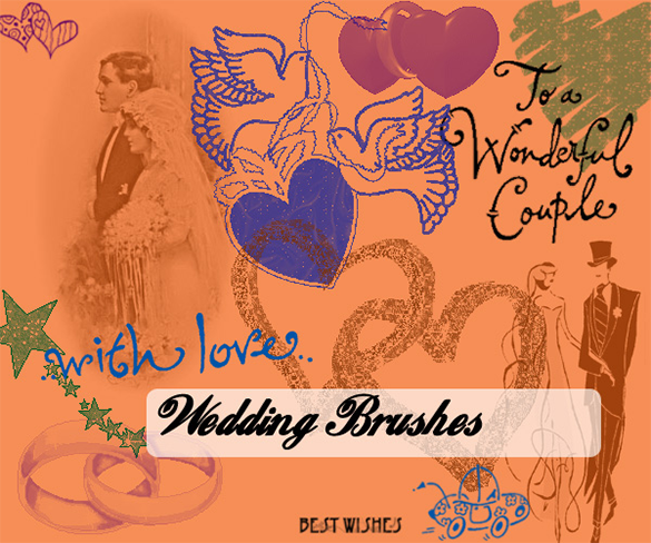 beautiful wedding photoshop brushes for free