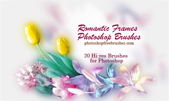 20 nice wedding photoshop brushes for free