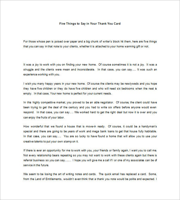Real estate thank you letters 10 free word excel pdf format saying thank you to clients is always an important thing they are the ones who keep your real estate business running download this template and use it to thecheapjerseys Image collections