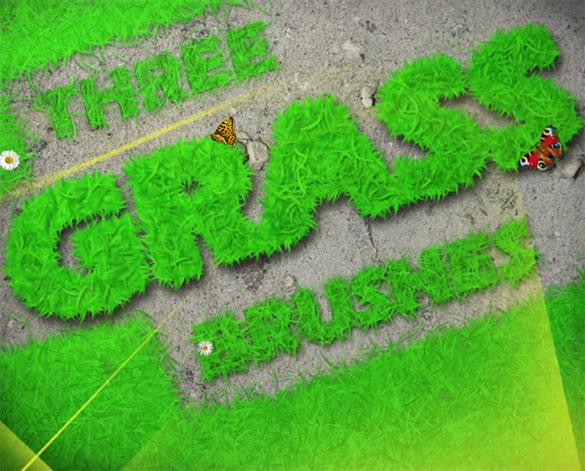 3 premium grass photoshop brushes download