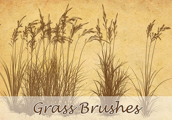 10 free awesome photoshop grass brushes