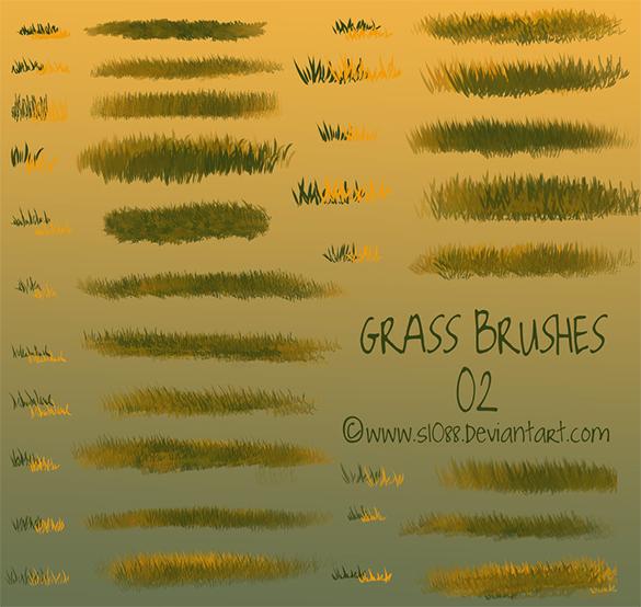 38 astonishing photoshop grass brushes for free