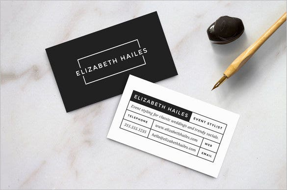 modern contact card template download