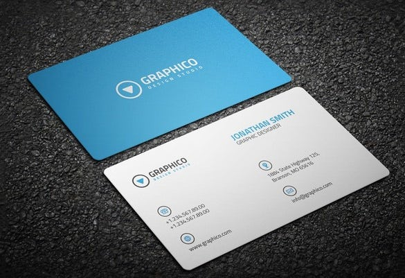contact card psd template download