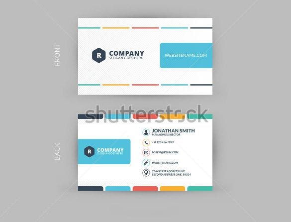 sample template for business crad download