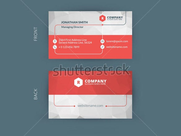 example of a contact card template