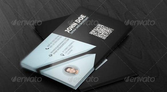 black colour contact card template
