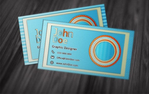 contact card sample template downlaod