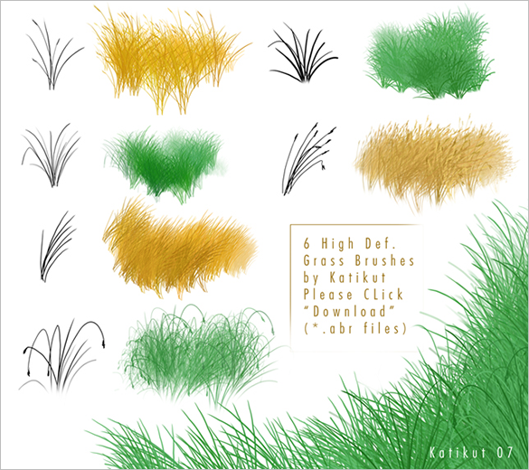 6 mindblowing free photoshop grass brushes