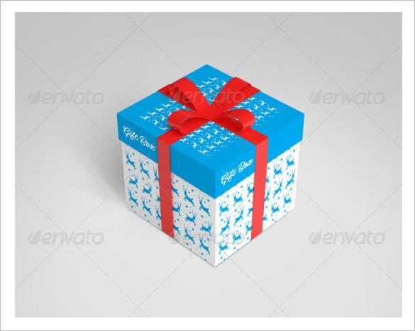 Box template 40 free word pdf psd eps format - Template for small gift box ...