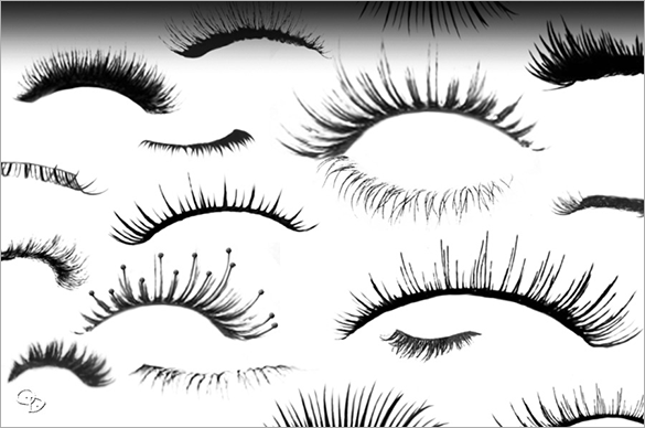 34 eyelashes photoshop brushes free download