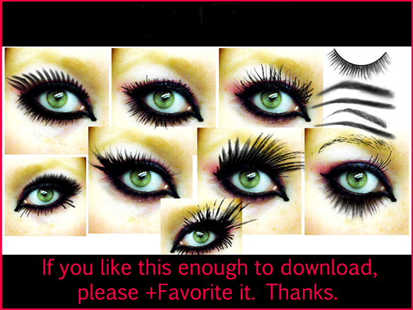 46 mindblowing free eyelashes photoshop brushes