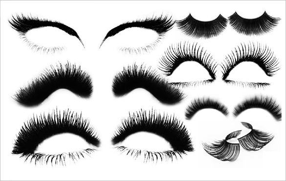 22 great eyelashes photoshop brushes for free