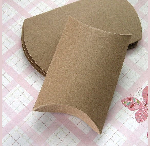pillow gift box template