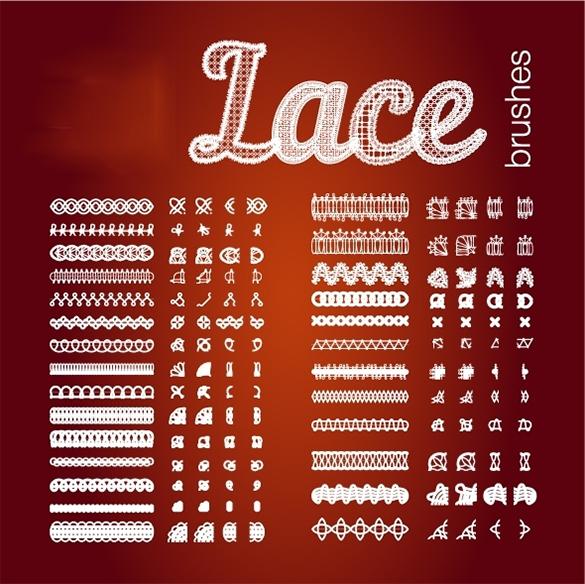 27 amazing premium lace photoshop brushes