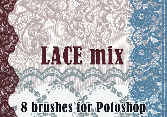 8 awesome lace photoshop brushes for free
