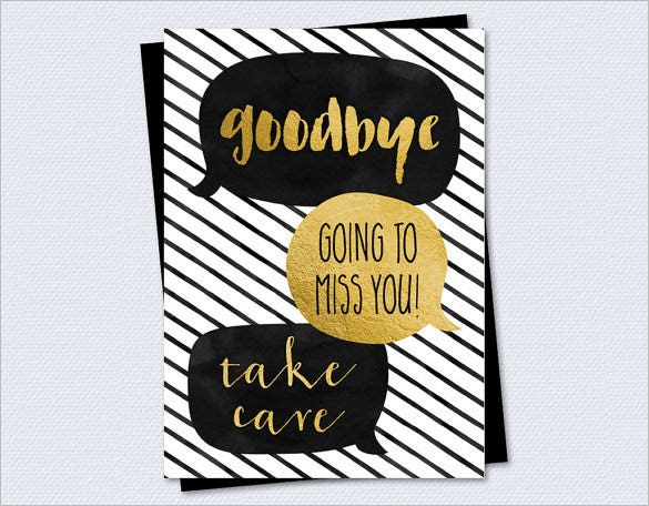 Farewell Card Printable Images & Pictures - Becuo